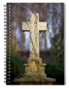Vintage Tombstone Cross Spiral Notebook