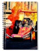 Vintage Top Fuel Dragster Fire Burnout-wild Bill Carter Spiral Notebook