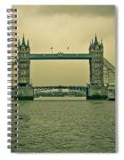 Vintage Tower Bridge Spiral Notebook