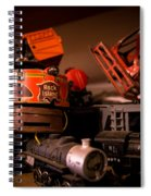 Vintage Toy Trains Spiral Notebook
