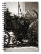 Vintage Tractor Drawing In Industrialised 1900s Spiral Notebook