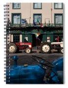 Vintage Tractors Lined Spiral Notebook