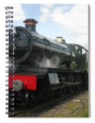 Vintage Train Black Steam Engine Spiral Notebook