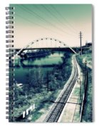 Vintage Train Tracks In Nashville Spiral Notebook