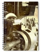 Vintage Train Wheel Spiral Notebook