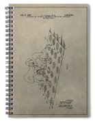 Vintage Twister Game Patent Spiral Notebook