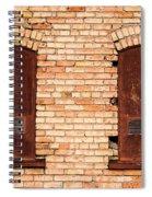 Vintage Urban Brick Building - Salt Lake City Spiral Notebook