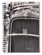 Vintage V8 Spiral Notebook