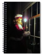 Vintage Victorian Christmas Doll Spiral Notebook
