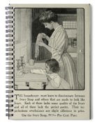 Vintage Victorian Soap Advert Spiral Notebook