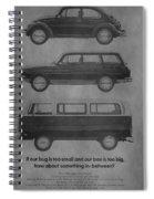 Vintage Volkswagen Ad 1971 Spiral Notebook
