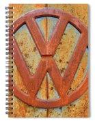 Vintage Volkswagen Bus Logo Spiral Notebook