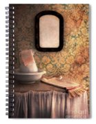Vintage Wash Basin And Pitcher Spiral Notebook