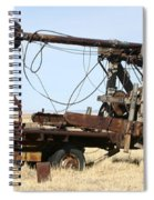 Vintage Water Well Drilling Truck Spiral Notebook