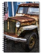 Vintage Willy's Jeep Pickup Truck Spiral Notebook