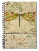 Vintage Wings-paris-e Spiral Notebook