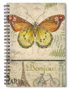 Vintage Wings-paris-l Spiral Notebook