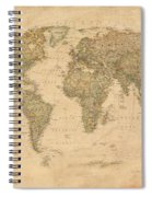 Vintage World Map Spiral Notebook