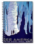Vintage Wpa Poster See America Spiral Notebook