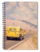 Vintage Yellowstone Bus Spiral Notebook