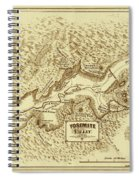 Vintage Yosemite Map 1870 Spiral Notebook
