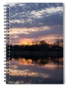 Violet Twilight On The Lake Spiral Notebook