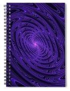 Violet Vortex-3 Spiral Notebook