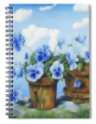 Violets On The Beach Spiral Notebook