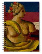 Violin And Bust Spiral Notebook
