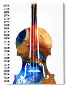 Violin Art By Sharon Cummings Spiral Notebook