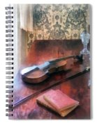Violin On Credenza Spiral Notebook