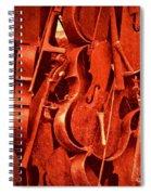 Violin Sculpture  Spiral Notebook
