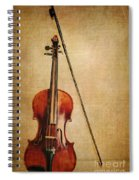 Violin With Bow Spiral Notebook