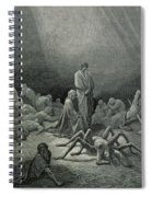Virgil And Dante Looking At The Spider Woman, Illustration From The Divine Comedy Spiral Notebook
