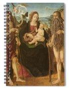 Virgin And Child Between St. John Spiral Notebook