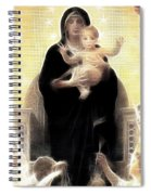 Virgin And Child Fractalius Spiral Notebook