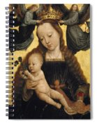 Virgin And Child With Angels Spiral Notebook
