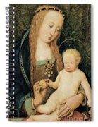 Virgin And Child With Pomegranate Spiral Notebook
