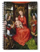 Virgin And Child With Saints Catherine Of Alexandria And Barbara Spiral Notebook