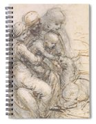 Virgin And Child With St. Anne Spiral Notebook