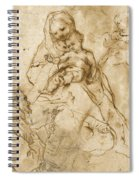 Virgin And Child With Saint Francis Spiral Notebook