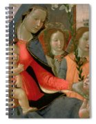 Virgin And Child With St John The Baptist And The Three Archangels Spiral Notebook