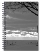 Virgin Mary At Sunset In South Haven Michigan Spiral Notebook