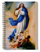 Virgin Of The Immaculate Conception After Murillo Spiral Notebook