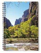Virgin River In Zion National Park Spiral Notebook
