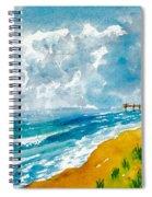 Virginia Beach With Pier Spiral Notebook