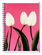 Visions Of Springtime - Abstract - Triptych Spiral Notebook