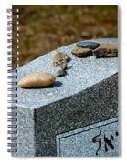 Visitation Stones On Jewish Grave Spiral Notebook