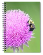 Visitor On Thistle Spiral Notebook