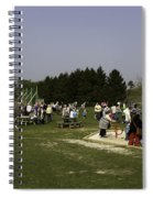 Visitors Having A Good Time At The Blair Drummond Safari Park Spiral Notebook